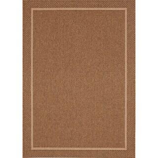 Loft Gracie Border Natural Design Rug (5'3 x 7'4) - 5'3 x 7'4