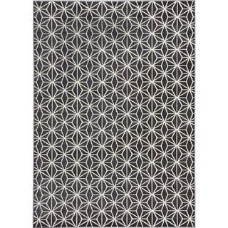 Loft Modern Geometric Star Grey Rug (7'10 x 10')
