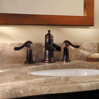 Pfister Ashfield Lavatory 49 As Widespread Rustic Bronze Faucet