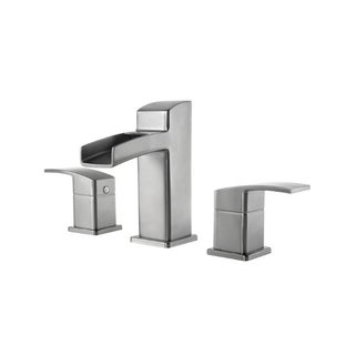 Pfister Kenzo Lavatory 49 KZ 8IN Widespread 2-handle Brushed nickel Faucet