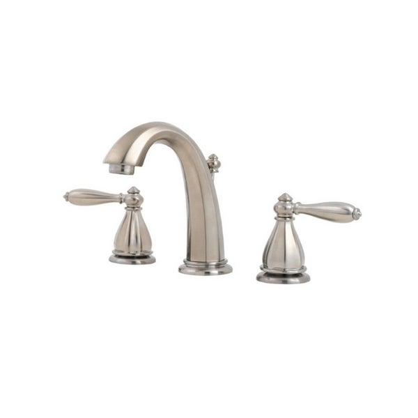 portola lavatory 49 po 8in 2 handle widespread brushed nickel faucet