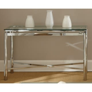 Greyson Living Natal Chrome and Glass Sofa Table