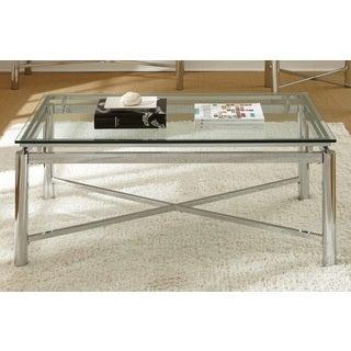 Greyson Living Natal Chrome and Glass Coffee Table