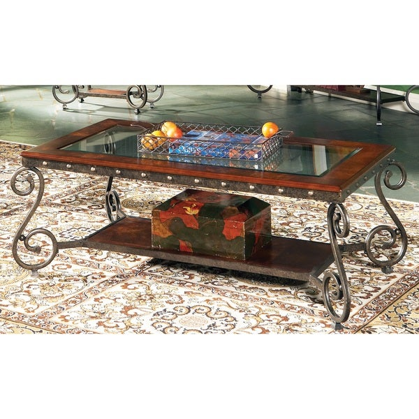 Este Glass Insert Coffee Table