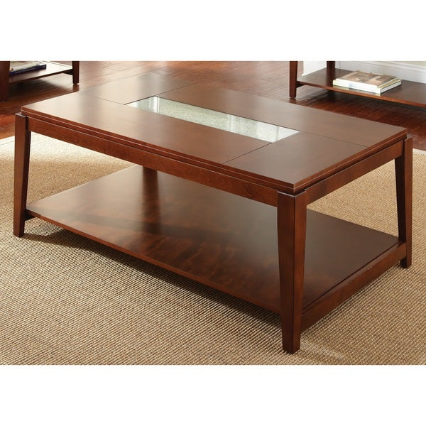 Juliana Inset Cracked Glass Coffee Table