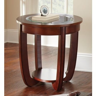 Lancaster Cherry Round End Table