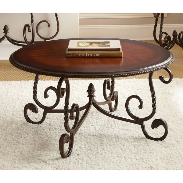 Canterbury Round Coffee Table Overstock Shopping Great Deals On Coffee Sofa End Tables