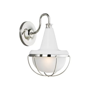 Murray Feiss Livingston 1-light Gloss White/ Polished Nickel Wall Bracket