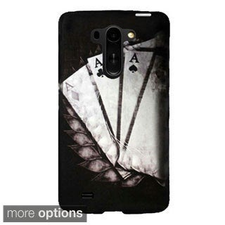 INSTEN Plain Pattern Rubberized Hard Plastic Snap-On Phone Case Cover For LG G Vista VS880