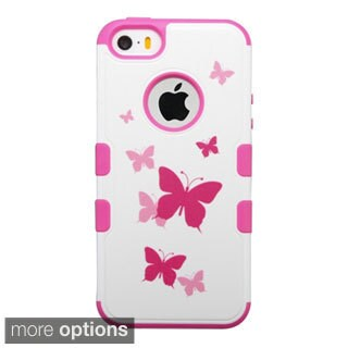 INSTEN Pattern Design Tuff Merge Rubberized Hard Snap-On Phone Case Cover For Apple iPhone 5/ 5S