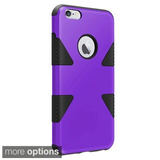 INSTEN Dual Color Dynamic Hybrid Rubberized Hard PC Silicone Phone Case Cover For Apple iPhone 6 Plus 5.5-inch