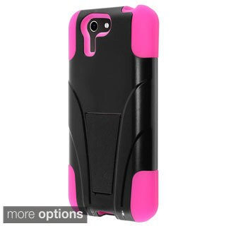 INSTEN Dual Layer Hybrid Rubberized Hard PC Silicone Phone Case Cover With Stand For ASUS PadFone X
