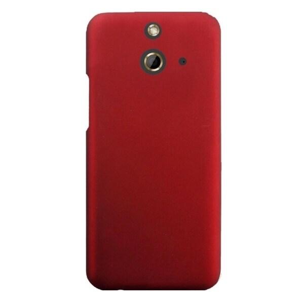INSTEN Plain Mono-tone Rubberized Matte Hard Plastic PC Snap-On Case Cover For HTC One E8