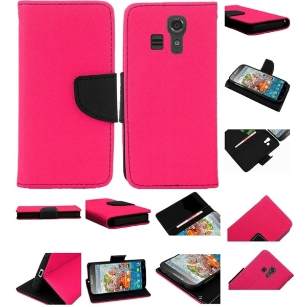 INSTEN Leather Wallet Folio Book-Style Flip Case Cover With Stand For Kyocera Hydro Icon 6730/ Life 6530