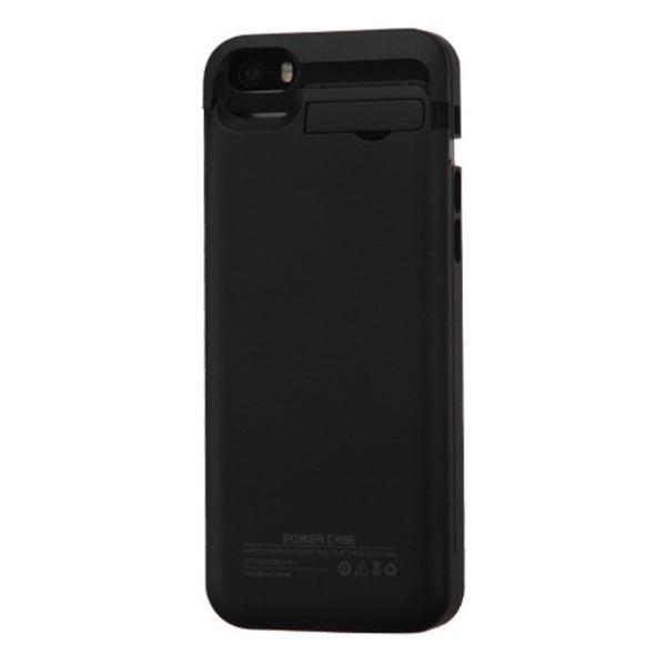 INSTEN Black 2200 mAh Rubberized Quantum Energy Battery Phone Case Cover For Apple iPhone 5C/ 5/ 5S