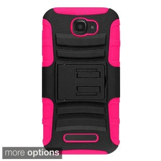 INSTEN Advanced Armor Hybrid Stand Silicone Holster Phone Case Cover For Alcatel One Touch Fierce 2 7040T