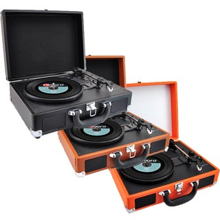 Pyle PVTTBT66 Bluetooth Recording Record Player Turntable with Built-in Battery and Speakers