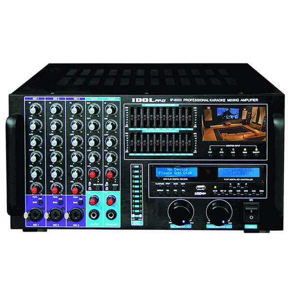 IDOLPRO IP-6000 10 Channel Equalizer 1500W Professional Console Mixing Amplifier