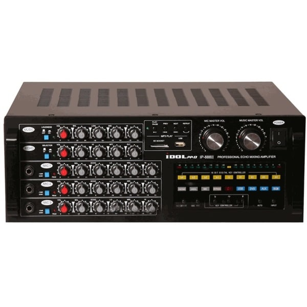 IDOLpro IP-888 II 1200W Professional Mixing Amplifier with BBE and Key Controller