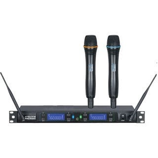 IDOLpro UHF-388 Professional Dual Wireless Infrared Auto-Scanning Microphone System