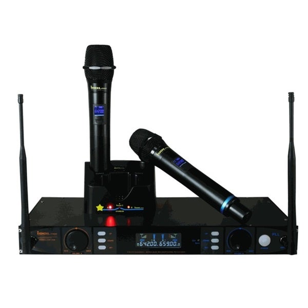 IDOLpro UHF-398 Multi-Channel UHF Dual Rechargeable Wireless Microphone System