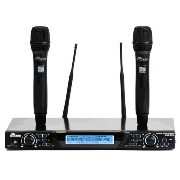 IDOLpro UHF-520 Dual Professional Wireless Microphone System with Automatic Transmitter Setup