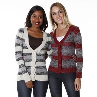 Hadari Women's Multi-stripe Cardigans (Set of 2)