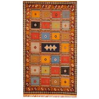 Herat Oriental Morrocan Hand-knotted Berber Gold/ Yellow Wool Rug (5'2 x 9'8)