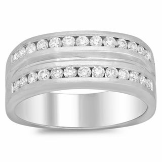 Men's 14k White Gold 1ct TDW Diamond Ring (F-G, SI1-SI2)
