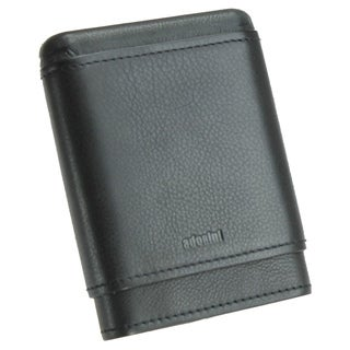 Adorini Black Leather Travel Cigar Case 3-5 Finger
