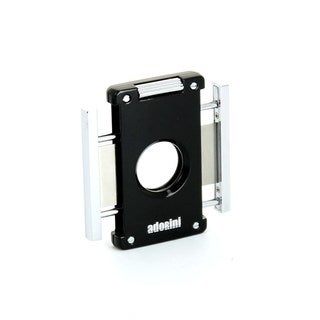 Adorini Black/ Silver Neptun Cigar Cutter with Solingen Blades