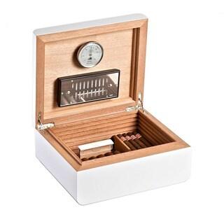 Adorini Humidor Carrara Medium Deluxe White Cigar Box