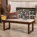 Christopher Knight Home Bayer Tufted Fabric Bench Ottoman