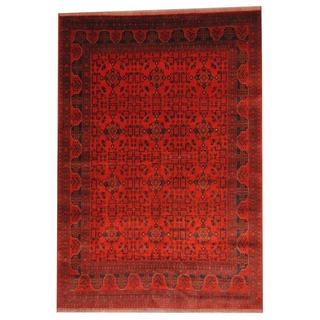 Herat Oriental Afghan Hand-knotted Tribal Khal Mohammadi Red/ Ivory Wool Rug (6'4 x 9'11)