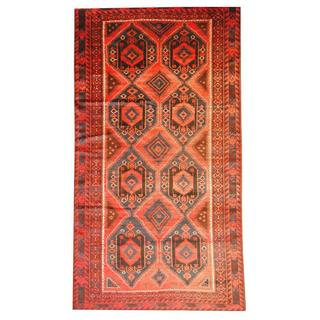 Herat Oriental Semi-antique Afghan Hand-knotted Tribal Balouchi Peach/ Pink Wool Rug (6'7 x 12'2)