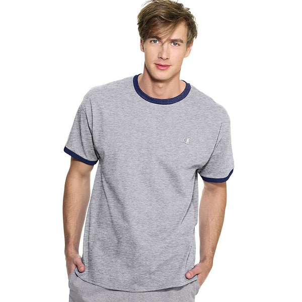 Champion Men's Cotton Jersey Ringer T-shirt 14456423