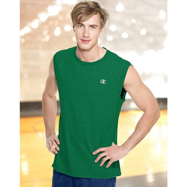 Champion Men's Cotton Jersey Muscle Tee 14456479