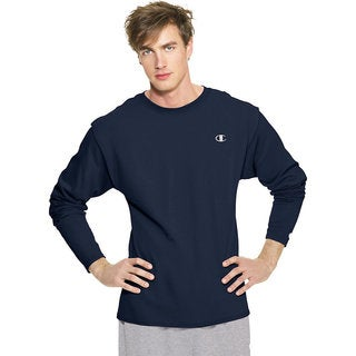 Champion Men's Cotton Jersey Long Sleeve T-shirt