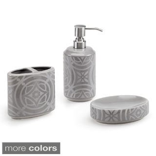 Design Lab Medallion 3-piece Bath Accessory Set