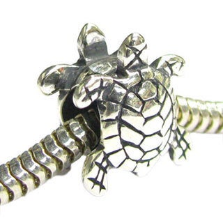 Queenberry Sterling Silver Sea Turtle Nautical Animal European Bead Charm