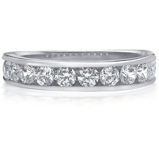 Amore Platinum 1ct TDW 11-Stone Channel Set Diamond Wedding Band (G-H, SI1-SI2)