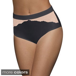 Bali One Women's Smooth U Comfort Indulgence Satin with Lace Brief