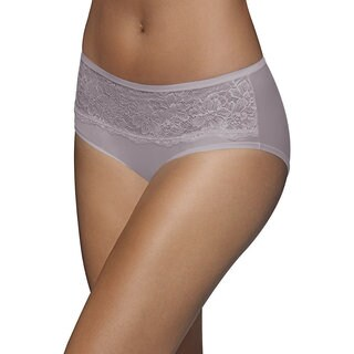 Bali One Smooth U Comfort Indulgence Satin with Lace Hipster Panty