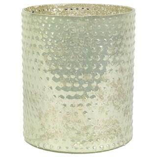 Glass Hobnail Cylinder Candle Holder