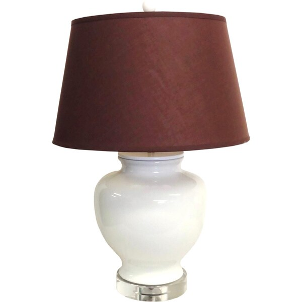 White Shabby-Chic Porcelain Table Lamp