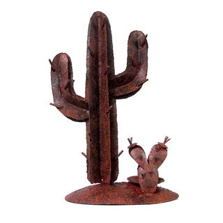 Rustic Cactus Small Iron Candle Holder (Indonesia)