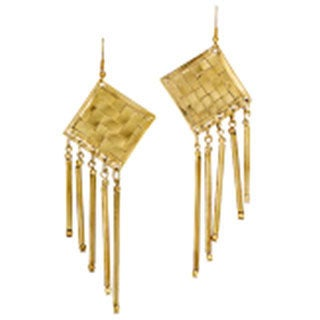 Mela Artisans Hand-crafted Camila Basketweave Earrings (India)