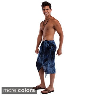 1 World Sarongs Men's Smoked Sarong (Indonesia)