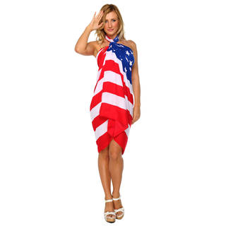 1 World Sarongs Women's American Flag Sarong (Indonesia)