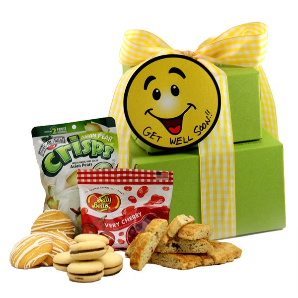 Smiles and Cheer Get Well Gluten-free Small Gift Tower